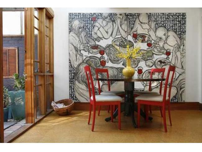 vẽ trang trí phòng bếp