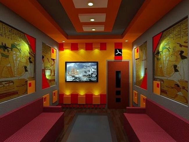 vẽ tranh tường quán karaoke đẹp