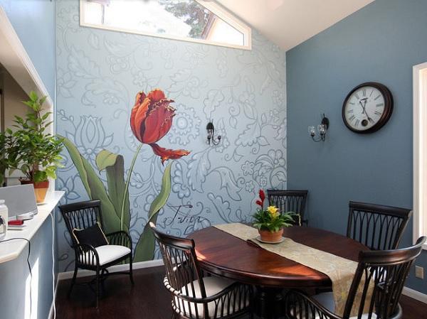 vẽ tranh tường phòng ăn giá rẻ