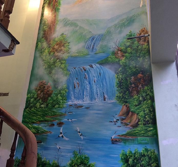 vẽ tranh tường cầu thang tphcm