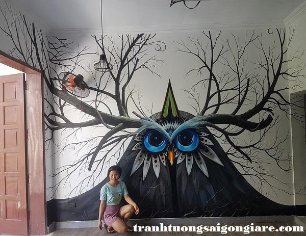 vẽ tranh tường khách sạn tại tphcm