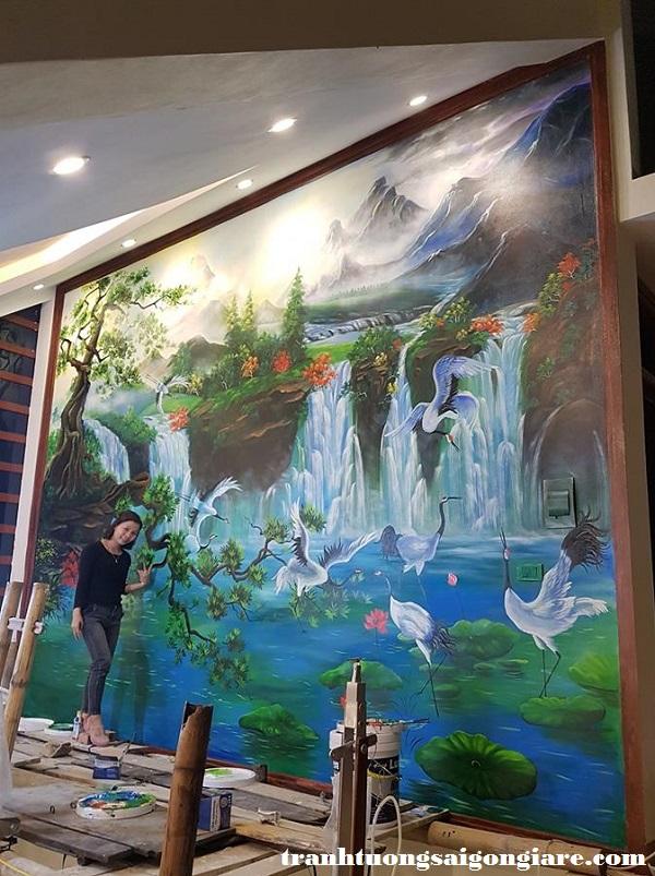 mẫu vẽ tranh tường khách sạn