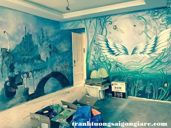 vẽ tranh tường khách sạn tphcm