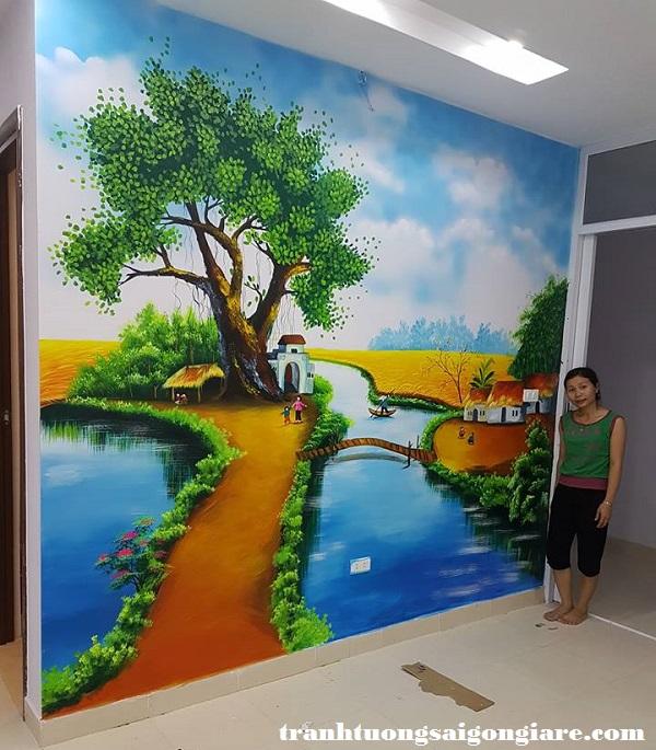 giá vẽ tranh tường khách sạn