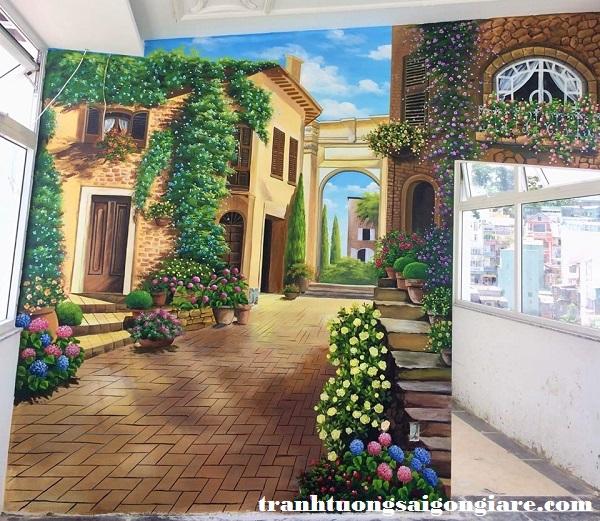 vẽ tranh tường khách sạn giá rẻ