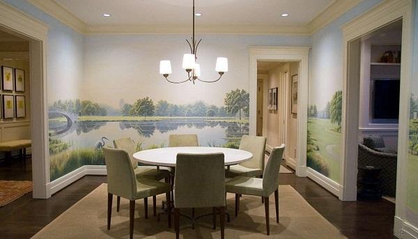 dịch vụ vẽ tranh tường phòng ăn