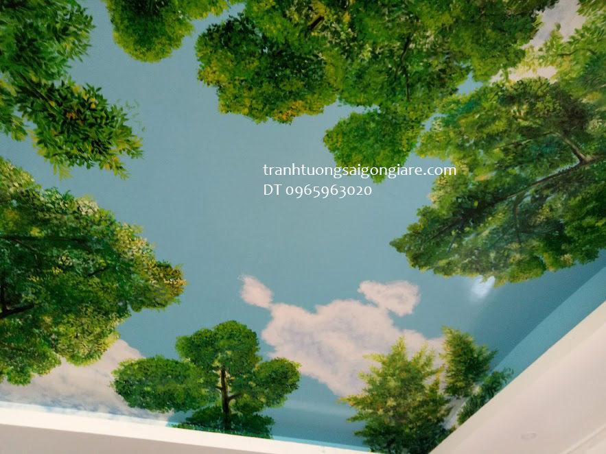 tranh tường trần nhà đẹp