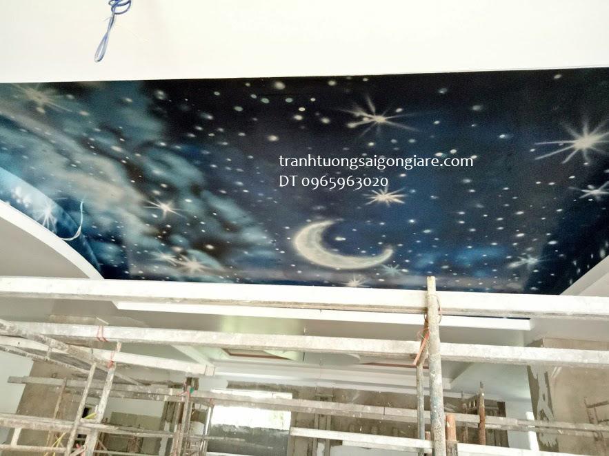 dịch vụ vẽ tranh tường trần nhà