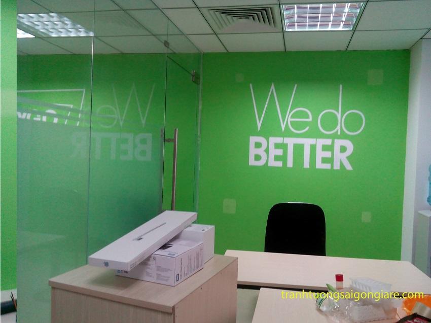 vẽ tranh tường văn phòng làm việc