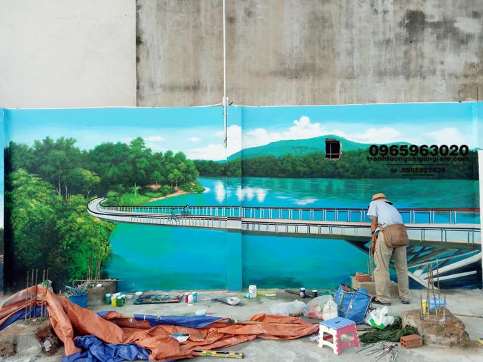 báo giá vẽ tranh tường phong cảnh